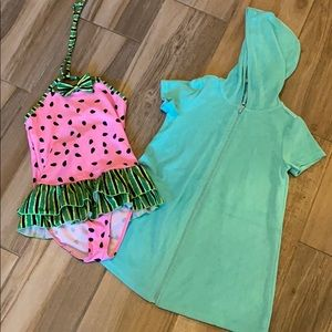 Swimsuit and cover up set